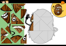 Cartoon coconut jigsaw puzzle game Stock Photography
