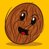 Cartoon coconut smiling Royalty Free Stock Photo