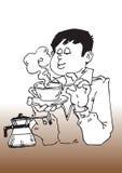 Cartoon coffee break Stock Photography