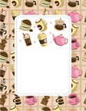 Cartoon coffee card Stock Images