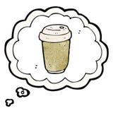 Cartoon coffee craving Stock Image