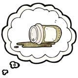 Cartoon coffee craving Stock Photos