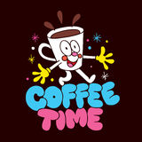 Cartoon coffee cup character Royalty Free Stock Photos