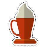 Cartoon coffee cup espresso cream. Illustration eps 10 Royalty Free Stock Photos