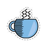 Cartoon coffee cup hot beverage. Illustration eps 10 Stock Images