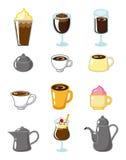 Cartoon coffee icon Stock Photography
