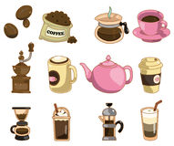 Cartoon coffee icon Royalty Free Stock Images