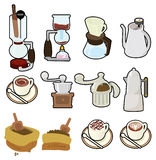 Cartoon coffee icon Royalty Free Stock Photos