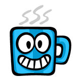 Cartoon Coffee Mug. A vector illustration of a coffee mug with a friendly face Royalty Free Stock Photography