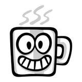 Cartoon Coffee Mug. A vector illustration of a coffee mug with a friendly face Stock Image