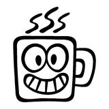 Cartoon Coffee Mug. A vector illustration of a coffee mug with a friendly face Royalty Free Stock Photo