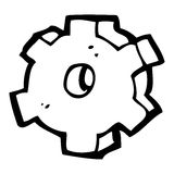 cartoon cog symbol Royalty Free Stock Photo