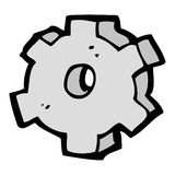 cartoon cog symbol Royalty Free Stock Photos