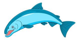 Cartoon coho salmon Royalty Free Stock Photography