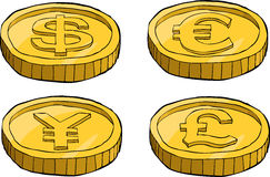 Cartoon coins Royalty Free Stock Photo