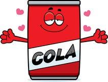 Cartoon Cola Can Hug Stock Image