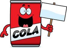 Cartoon Cola Can Sign Stock Photography