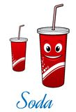 Cartoon cola or soda character Stock Image