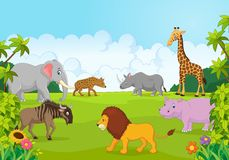 Cartoon Collection animal africa in the jungle Royalty Free Stock Photo