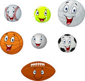 Cartoon collection ball Royalty Free Stock Photo