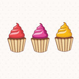 Cartoon collection of cupcake .Vector. Stock Photo