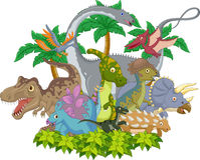 Cartoon Collection dinosaur character Royalty Free Stock Photo