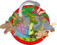 Cartoon Collection dinosaur character Royalty Free Stock Image