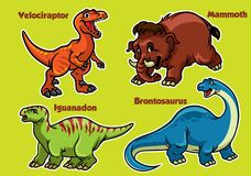 Cartoon collection of dinosaurs. Vector of cartoon collection of dinosaurs Royalty Free Stock Photos