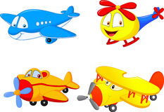 Cartoon collection plane Stock Photos