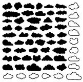 Vector cartoon collection of sky clouds Royalty Free Stock Photography