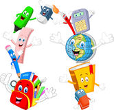 Cartoon Collection stationery giving thumb up Stock Images