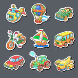 Cartoon collection of Transportation - Colored Stock Photo