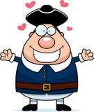 Cartoon Colonial Man Hug Stock Photos