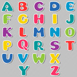 Cartoon color alphabet. Vector illustration Stock Photos