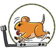 Cartoon color animal expression hamster exercise Stock Photo