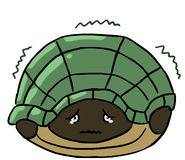 Cartoon color animal expression turtle scare Royalty Free Stock Image