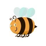 Cartoon Color Bee. Vector vector illustration