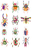 Cartoon color bug icon Stock Photography