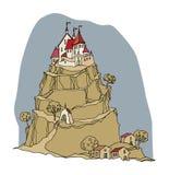 Cartoon color castle Royalty Free Stock Image
