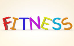 Cartoon color Fitness sign Stock Images