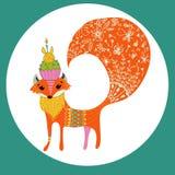 Cartoon color fox Stock Photography