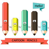 Cartoon color pencil. Vector illustration Royalty Free Stock Photos