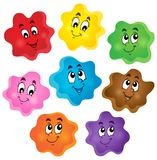 Cartoon color shapes collection Royalty Free Stock Images