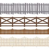 Cartoon Color Wooden Fence Seamless Pattern Background. Vector royalty free illustration