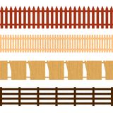Cartoon Color Wooden Fence Seamless Pattern Background. Vector vector illustration