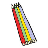 cartoon colored pencils Royalty Free Stock Image