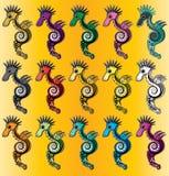 Cartoon colored sea horse  illustration Royalty Free Stock Image