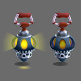 Cartoon colorful ancient lamp for fantasy games. Stock Images