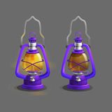 Cartoon colorful ancient lamp for games. Stock Photo