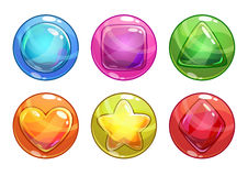 Free Cartoon Colorful Bubbles With Different Shapes Royalty Free Stock Images - 63834249